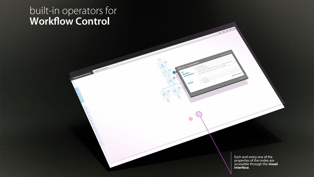 ehCOS Protocols pantalla de construcción